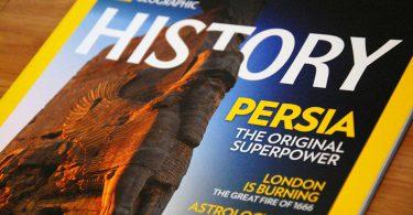 کوروش کبیر بنیانگذار نخستین ابرقدرت جهان بود ــ تصویر روی جلد مجلۀ نشنال جئوگرافیک هیستوری