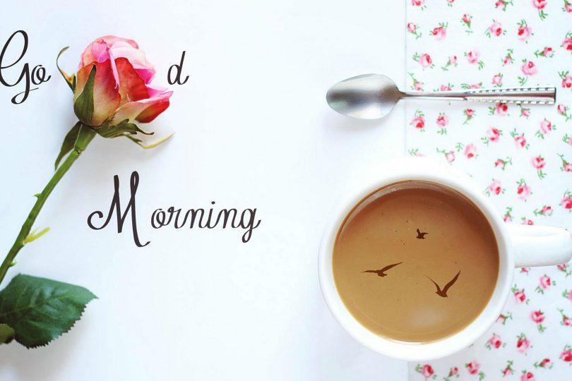 صبح را چگونه آغاز کنیم ــ تصویر گل و قهوه
